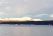 Lassen Peak in Winter from East Shore