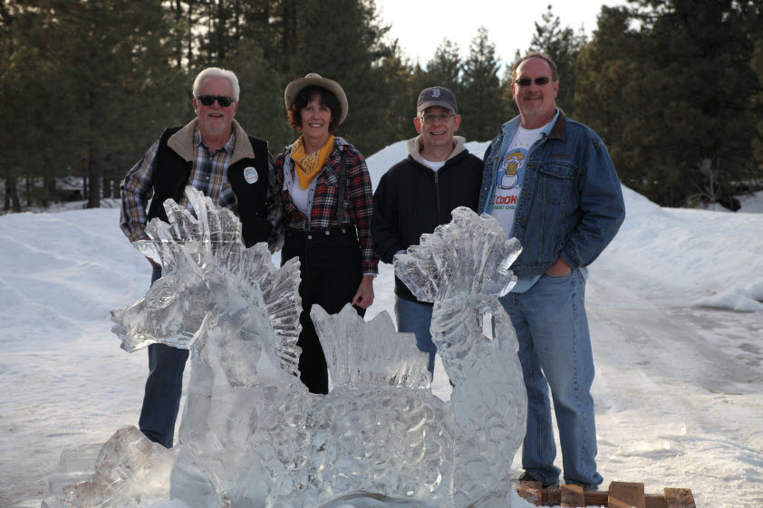 Chili Cook-Off Ice Sculpture