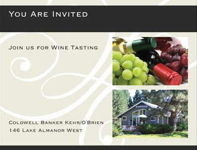 Wine Tasting Invitation, Front